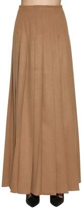 Max Mara Pleated Camel Skirt