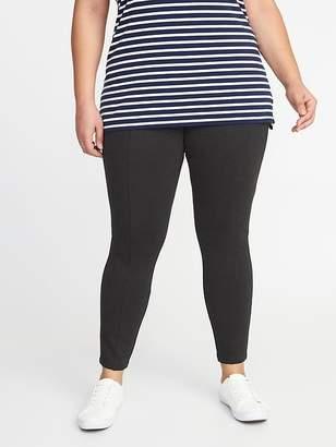 Old Navy Mid-Rise Secret-Slim Plus-Size Ponte-Knit Stevie Pants