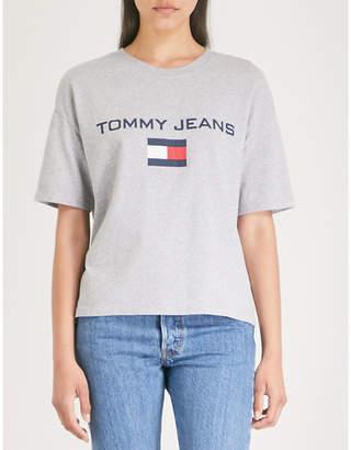 Tommy Jeans 90s logo-print cotton-jersey T-shirt