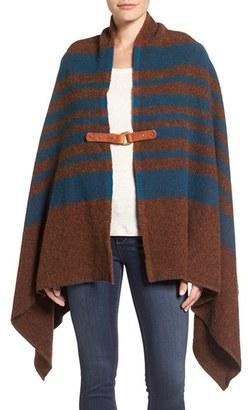 Women's Woolrich 'Fireside Ii' Wool Blend Poncho $155 thestylecure.com