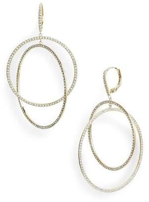 Nordstrom Pave Intertwined Circle Hoop Earrings