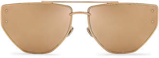 Christian Dior Clan 2 Sunglasses in Rose Gold | FWRD
