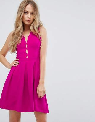 Adelyn Rae Serena Fit And Flare Scallop Dress