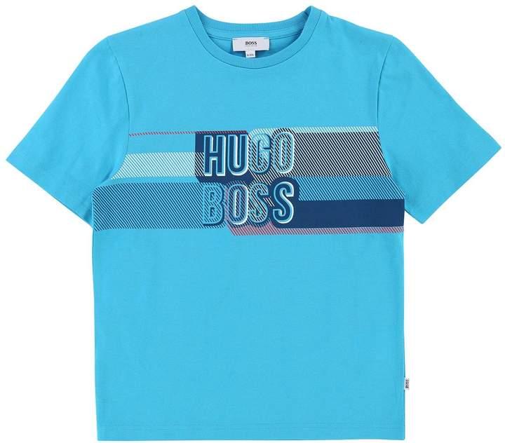 Boys Short Sleeve Logo Chest Print T-shirt