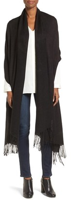Women's Nordstrom Fringe Textured Wrap $39 thestylecure.com