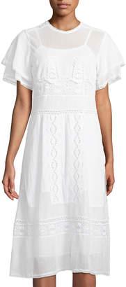 Tularosa Neil Embroidered Mesh Dress