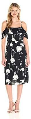 Lucky Brand Women's Floral Ruffle Midi Dress