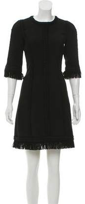 Andrew Gn Virgin Wool Knit Mini Dress