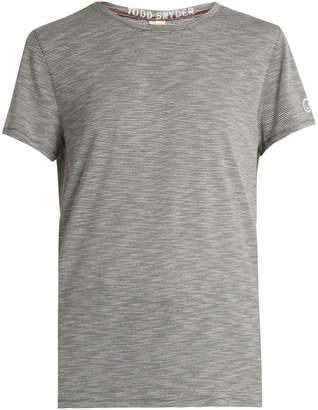 TODD SNYDER + CHAMPION Boyfriend striped jersey T-shirt