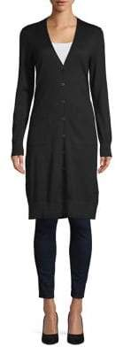 Lord & Taylor Merino Wool Button Duster