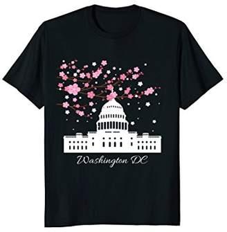 Washington DC Capitol Building Cherry Blossoms T Shirt