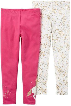 Toddler Girl Carter's 2-pk. Stars & Unicorn Leggings $24 thestylecure.com