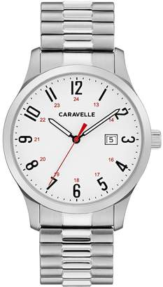 Caravelle Men's Easy Reader Stainless Steel Expansion Watch - 43B153