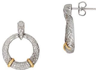 Tag Heuer FINE JEWELLERY Two-Tone 0.25 TCW Diamond Gypsy Hoop Earrings