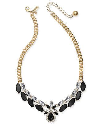 "Kate Spade Crystal & Stone Collar Necklace, 16"" + 3"" extender"