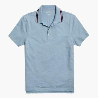 J.Crew Tipped short-sleeve polo shirt in slub cotton