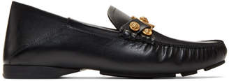 Versace Black Tribute Driver Loafers