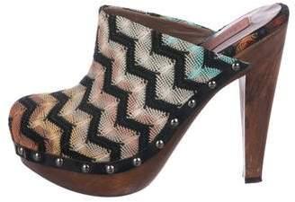 Missoni Knit Platform Mules