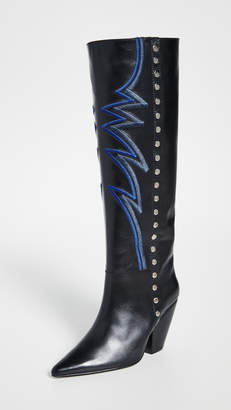 Toga Pulla Tall Embroidered Boots