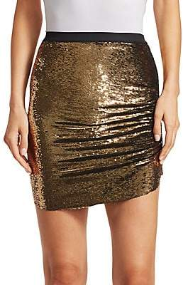 IRO Women's Reward Asymmetric Sequin Mini Skirt