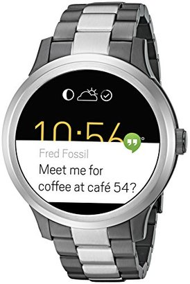 Fossil Q Founder Gen 1 Touchscreen Two-Tone Gunmetal and Stainless Steel Smartwatch $315 thestylecure.com