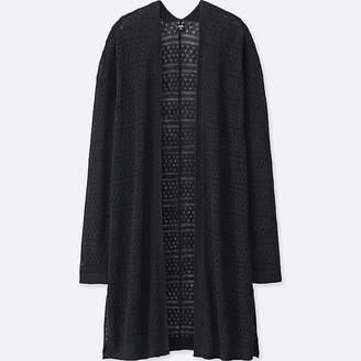 Uniqlo Women's Linen Blend Lacy Cardigan