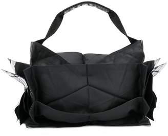 Issey Miyake 132 5. structured metallic detail tote bag