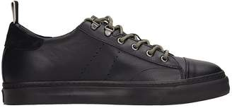 Low Brand Black Leather Sneakers