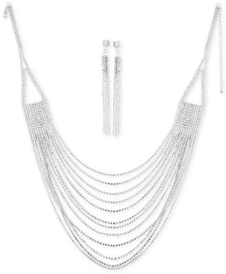 Say Yes to the Prom Crystal Statement Necklace & Drop Earrings Set