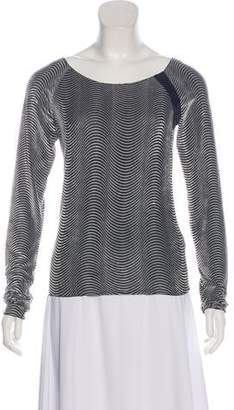 Armani Collezioni Textured Long Sleeve Top