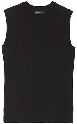 Banana Republic Stripe Cotton-Blend Sweater Shell