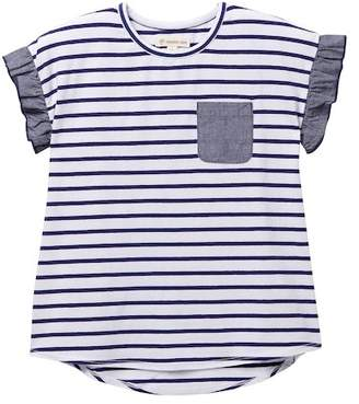 Tucker + Tate Mixed Media Stripe Tee (Toddler & Little Girls)