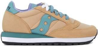 Saucony Jazz Beige Suede And Nylon Sneaker