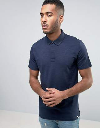 Jack and Jones Core Polo Shirt With Hidden Button Detail