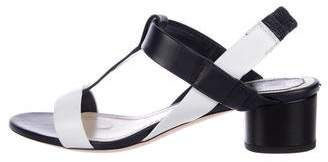 Christian Dior Leather Ankle-Strap Sandals