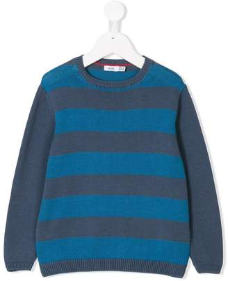 Knot striped knitted jumper