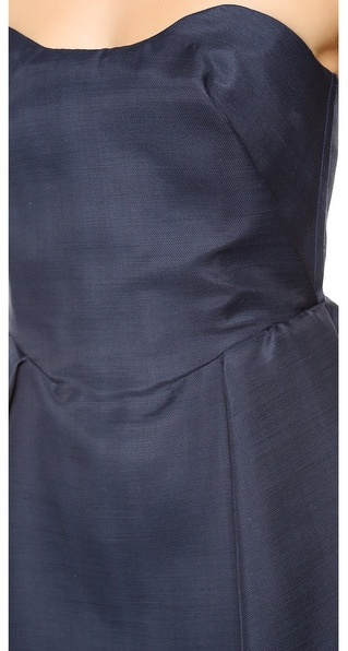 Carven Strapless Wool Dress