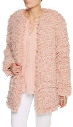 Sanctuary Faux Fur Trimmed Long Sleeve Jacket $229 thestylecure.com