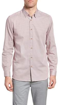 Ted Baker Holic Trim Fit Geometric Sport Shirt