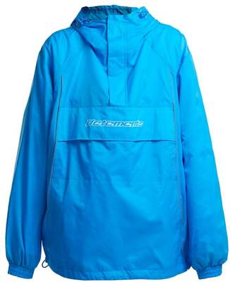 Vetements Loose Fit Hooded Jacket - Womens - Blue
