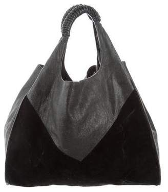 Helmut Lang Leather & Suede Hobo