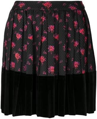 McQ floral print mini skirt