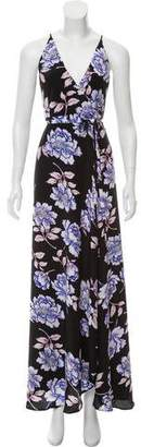 Yumi Kim Silk Floral Wrap Dress