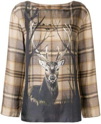 Alberta Ferretti deer print blouse