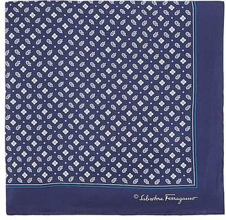 Salvatore Ferragamo Men's Floral Silk Twill Pocket Square