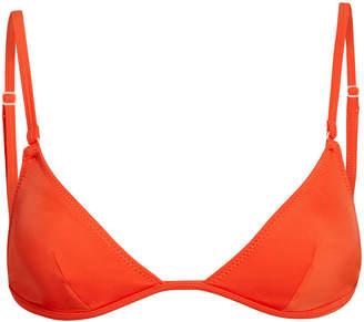 95a4a0ef7a Solid   Striped Lulu Burnt Orange Bikini Top