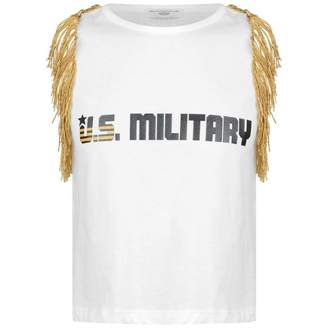 Relish RelishGirls Ivory U.S Miltary Print Top
