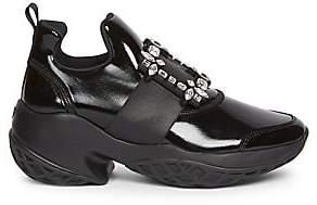 Roger Vivier Women's Viv Run Strass Buckle Sneakers
