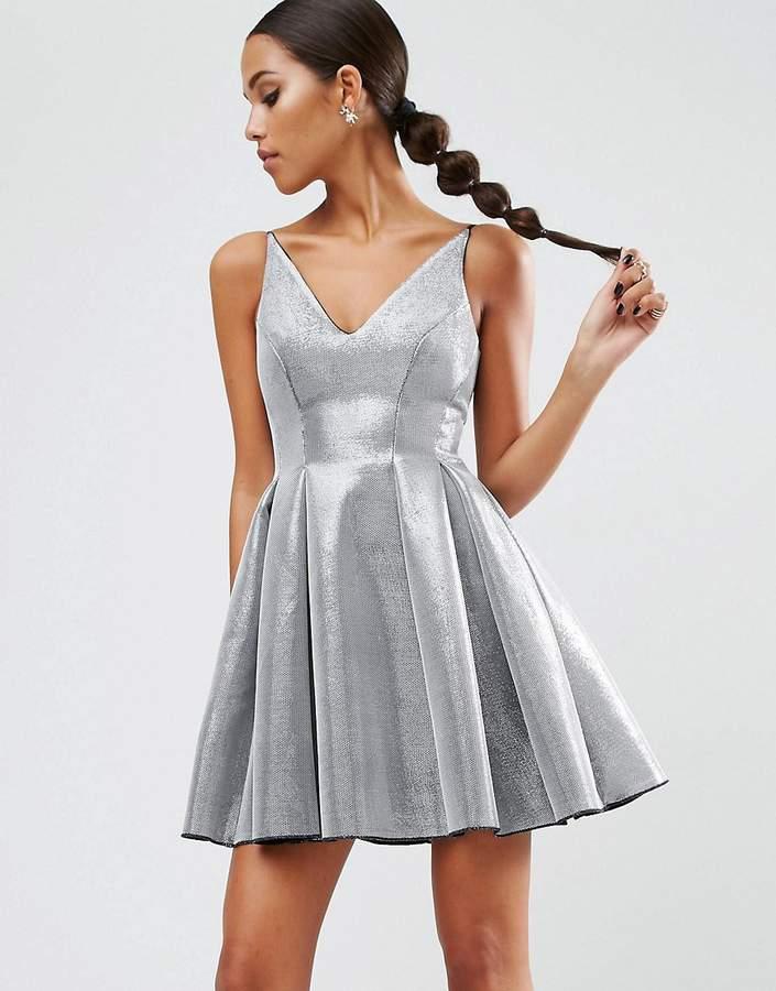 AsosASOS NIGHT High Apex Bonded Mini Prom Dress