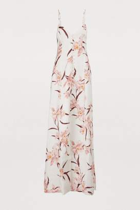 Zimmermann Corsage linen maxi dress